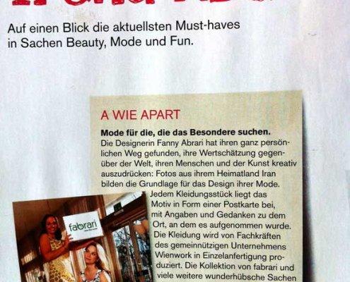 Mode für die, die das Besondere suchen - fabrari im Seitenblicke Magazin Trend ABC