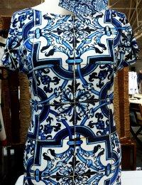 Fotoprint Shirt mit Kachelwand in Lissabon