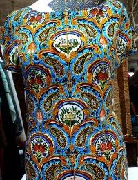Fotoprint Shirt bunte Kachelwand Golestan Palast, Teheran