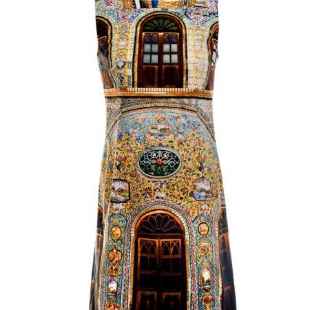 Designer Fotoprint Kleid Motiv Golestan Wand Teheran