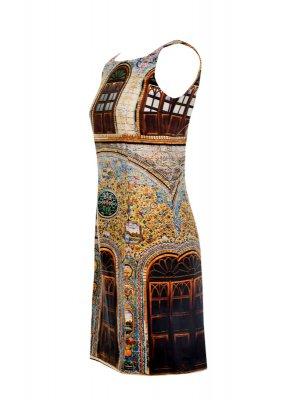Designer Fotoprint Kleid Motiv Kachelwand von Golestan Palast, Teheran
