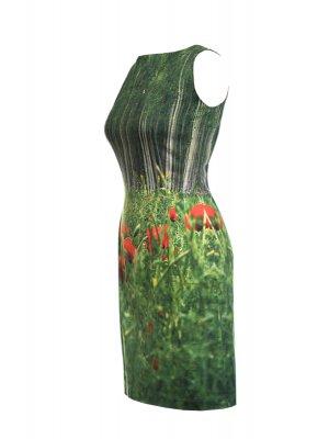 Designer Fotoprint Motiv mit Mohnblumenwiese
