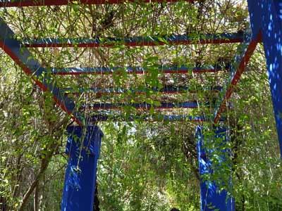 Pavillion im Garten des Bleu Majorelle, Marrakesch