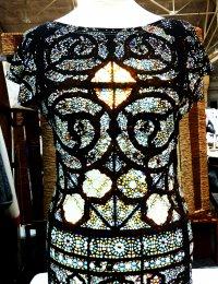 Desginer Shirt Fotoprint buntes Glasfenster