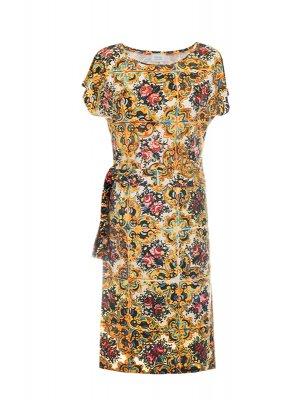 Designer Fotoprint Kleid bunte Kachelwand