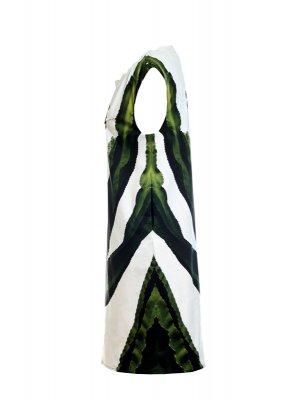 Designer Fotoprint Kleid mit grünem Kaktus Motiv