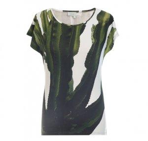 Designer Fotoprint Shirt mit einem grünen Kaktus
