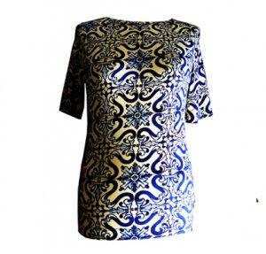 Designer Shirt Azulechos, fabrari