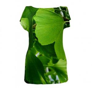 Grosses Gingko Blatt Foto auf Shirt