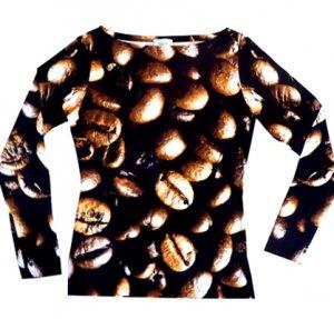langarm Shirt Kaffeebohnen