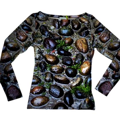 Shirt Steine - langarm, Fotomotiv