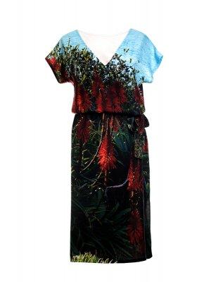 Designer Fotoprint Kleid mit Motiv Meer und Natur Laguna Beach, California
