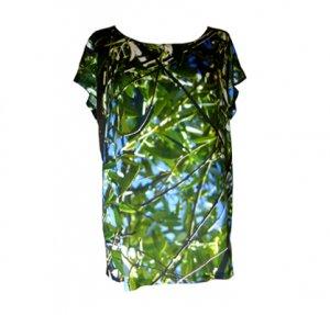 Viskose Shirt: Olivenbaum