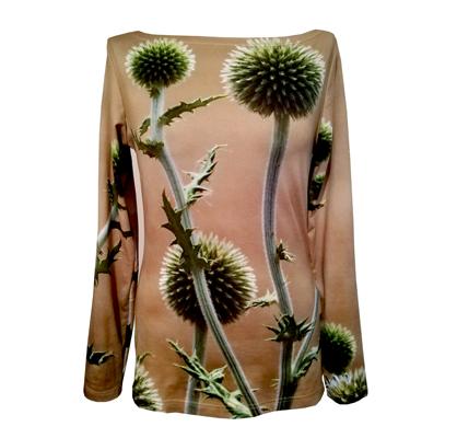 fabrari Shirt grüne Disteln