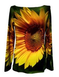 Fotodruck strahlende Sonnenblume, Langarm-Shirt fabrari