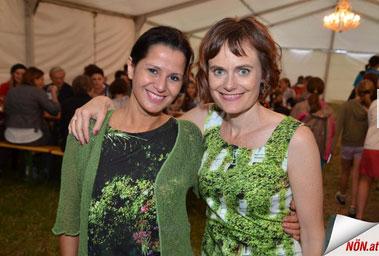 Mit Nina Blum in fabrari bei der Prämiere des Märchensommers 2015 in Poysbrunn. 9.7.2015