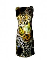 Etuikleid Gaudi gold - besonderes Kleid für Feste
