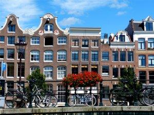 Hausfront in Amsterdam, fabrari