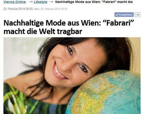 """Interview auf vienna.at """"Nachhaltige Mode aus Wien"""""""