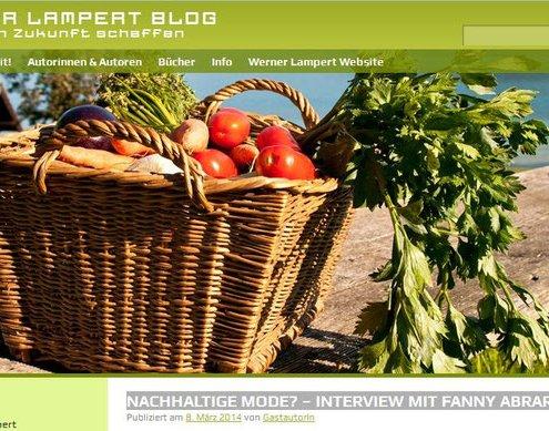 """Interview """"Nachhaltige Mode?"""" - Werner Lambert Blog"""