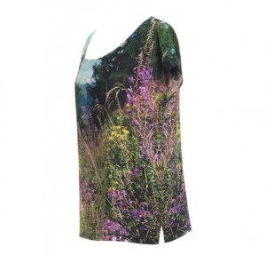 Designer Fotoprint Shirt Hahnekamm-Wiese