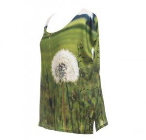 Designer Fotoprint Shirt mit Löwenzahn Blume