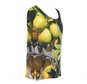 Designer Fotoprint Shirt mit Zitronen