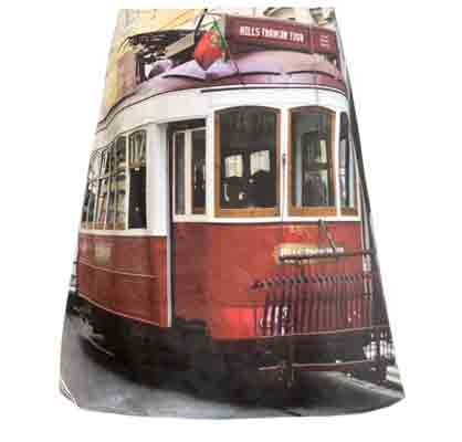 Rock mit Fotomotiv rote Bim, Lissabon, fabrari