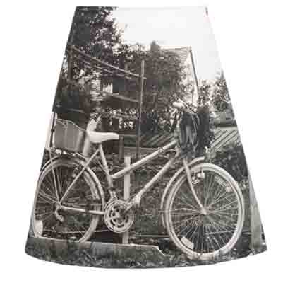 Rock mit Fotomotiv Fahrrad, fabrari