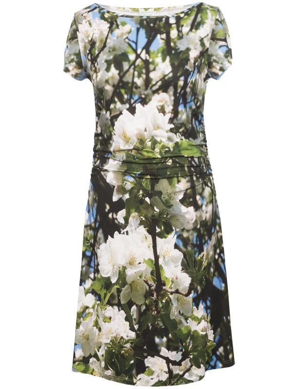 Kleid mit Motiv eines Marillenbaums