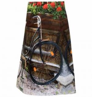 "ausgestellter Rock ""Fahrrad"""
