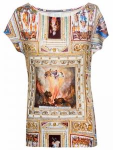 T-Shirt mit Deckenmalerei-Motiv, Rom