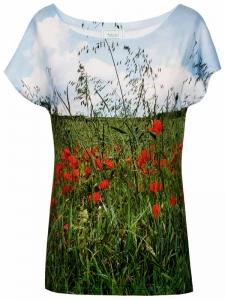 T-Shirt Mohnblumenwiese