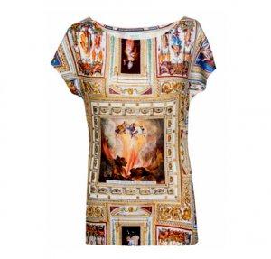 nachhaltiges Damen Shirt - Deckenmalerei-Motiv, Rom