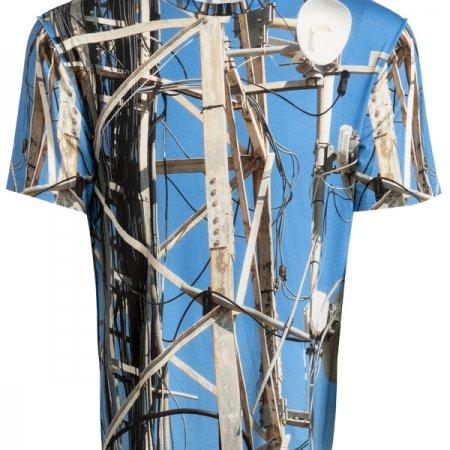 Herren T-Shirt fabrari Motiv Satelliten