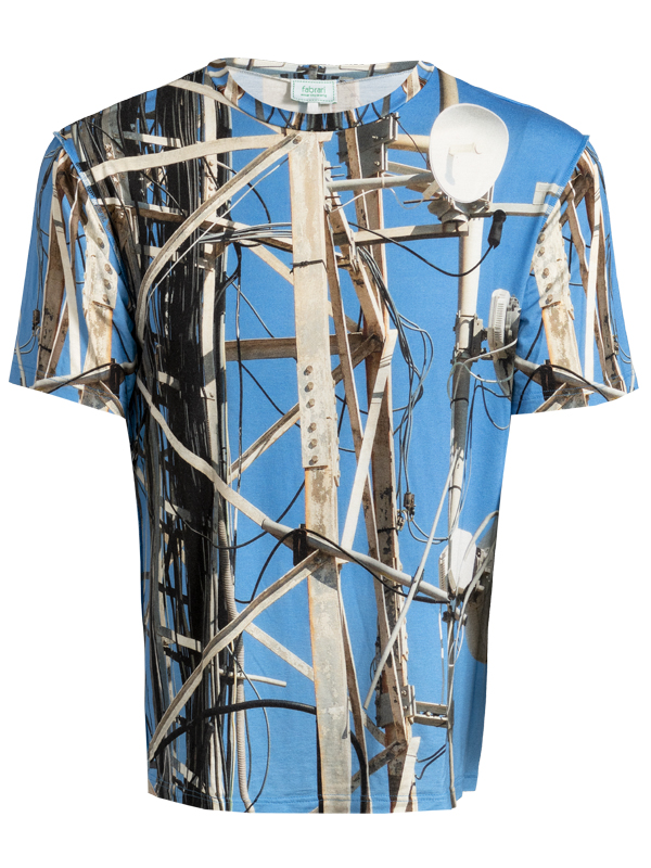 Herren T-Shirt fabrari Motiv Satelliten