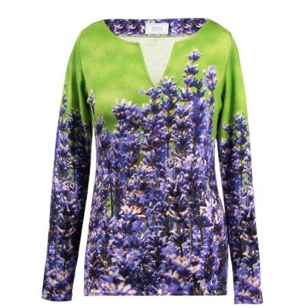 Shirt mit Lavendel-Motiv