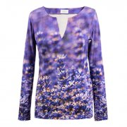 Shirt mit Lavendelblüten